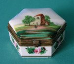Antique French Porcelain Box c.1840