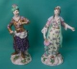 A Pair of Samson Porcelain Figures of Turks