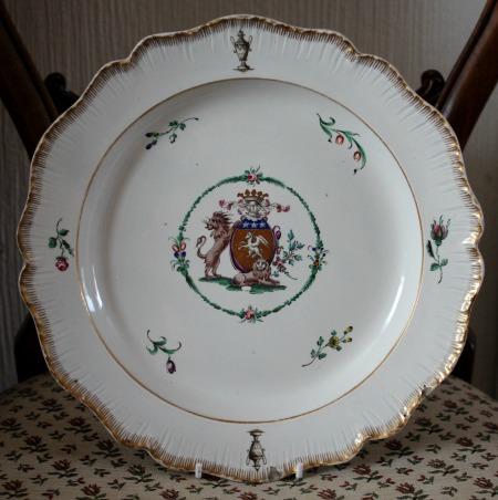 Rare Swansea Pearlware Armorial Plate Haynes Dillwyn
