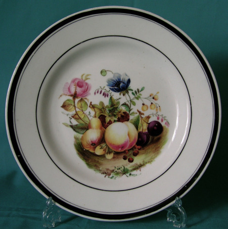 English Dessert Plate (possibly Rockingham) c.1830