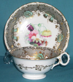 S. Alcock porcelain cup and saucer c.1835