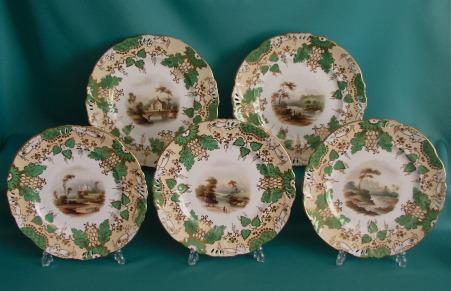A Part Samuel Alcock Porcelain Dessert Service C 1840