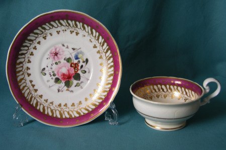 S. Alcock cup & saucer c.1830