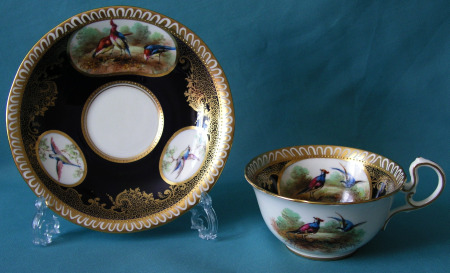 Aynsley cabinet cup and saucer c.1890-1910