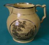 A Staffordshire Yellowware/Silver Lustre Jug c.1810