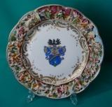 Capo Di Monte Armorial Porcelain Plate c.1850-1920