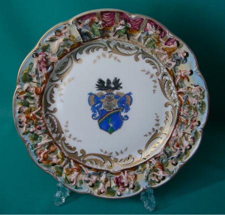 A Capodimonte Porcelain Cabinet Plate C 1850 1920