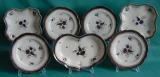 A Caughley Porcelain Part Dessert Set c.1780-90
