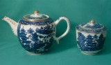 A Caughley Porcelain Teapot