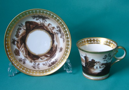 A Chamberlain Worcester Coffee Cup and Saucer c.1815