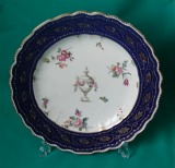 A Chelsea-Derby Porcelain  Plate c.1775