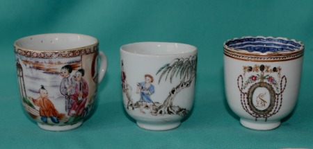 18th Century Chinese Porcelain Coffee Cups