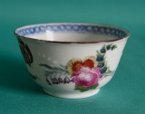 A Chinese Porcelain Teabowl, decorated in London c.1750-60