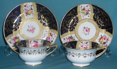 A Pair of Coalport Cups & Saucers c.1818