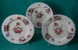 3 Coalport Porcelain plates c.1820