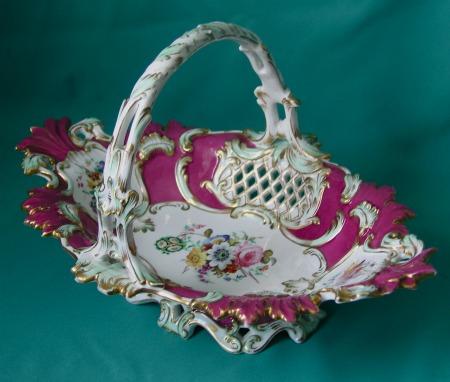 A Coalport Porcelain Basket c.1840