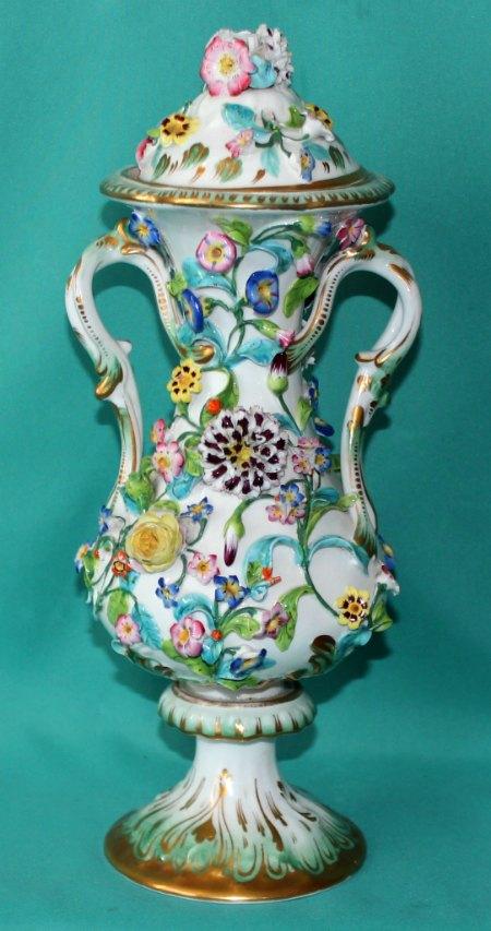 A Coalport Porcelain Coalbrookdale Vase C 1830