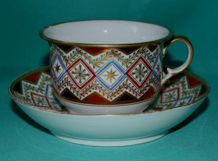 A Coalport Porcelain Breakfast Cup And Saucer C 1810