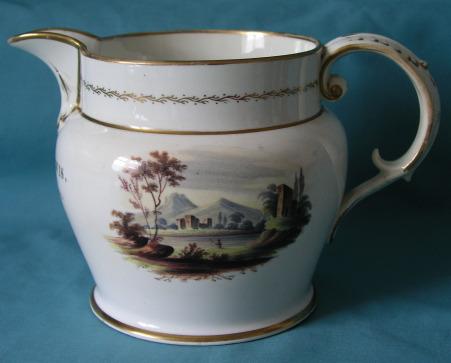 A Coalport Porcelain (Christening) Jug 1809