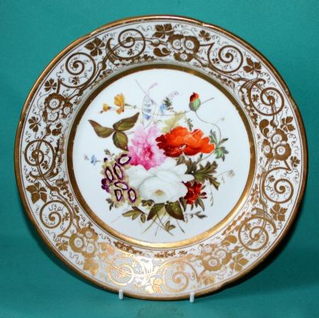 A Pair Of Coalport Porcelain Dessert Plates C 1820 25