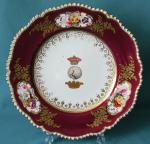 A Coalport Armorial Dinner Plate c.1830