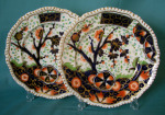 A pair of Coalport plates