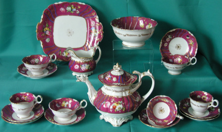 A Coalport Part Tea/Coffee Porcelain Set c.1835-40
