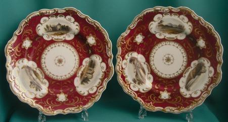 A pair of Copeland & Garrett dessert pates c.1835