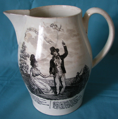 Antique Creamware Liverpool jug