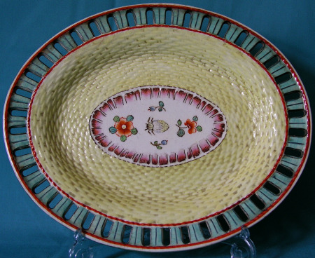 An English Creamware Arcaded Dish c.1800