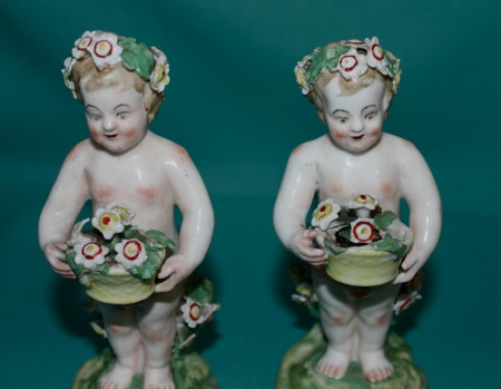 Two Derby Porcelain Putti