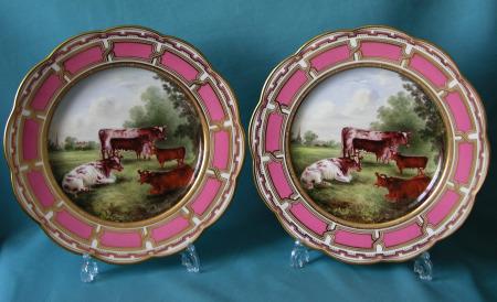 A Pair of Davenport dessert plates c.1870