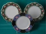 3 Bloor Derby Dessert Plates c.1820