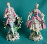 A Pair of Derby Porcelain Figures c.1800