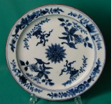 A Rare Derby Porcelain blue & white Plate c.1770
