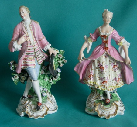 A Pair Of Derby Porcelain Figures C 1800