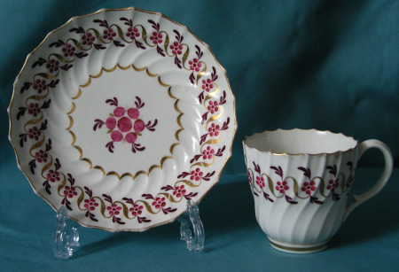 Worcester (Flight Period) coffee cup and saucer c.1790
