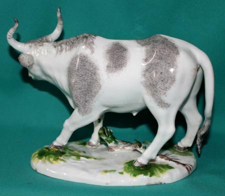 Furstenberg Porcelain Model Of A Bull C 1755