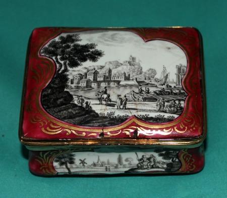 German Enamel Snuff Box C 1760