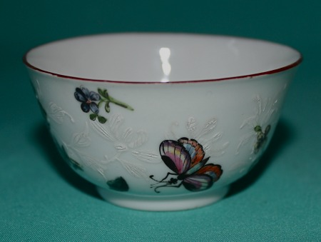 London Decorated James Giles Porcelain Teabowl C 1755 65