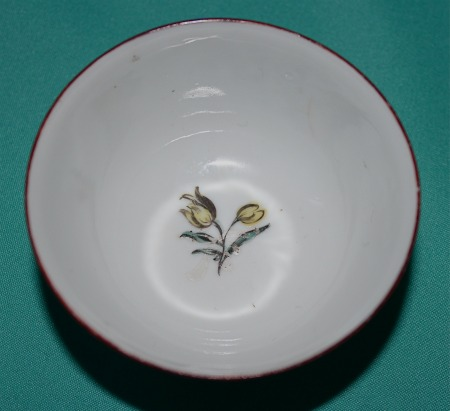 London Decorated James Giles Porcelain Teabowl C 1755 65