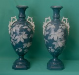 Grainger Worcester Porcelain Pate-sur-Pate Vases