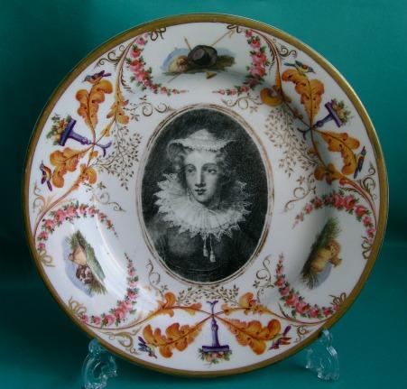 A Rare Herculaneum Porcelain Plate C 1810 15