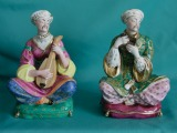 A Pair of Jacob Petit Porcelain Figural Scent Bottles c.1840
