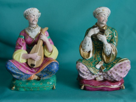 A Pair Of Jacob Petit Porcelain Figural Scent Bottles C 1840