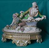 A  Jacob Petit Porcelain Figural Inkstand c.1840