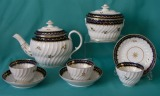 An Early Coalport Porcelain Part Teaset c.1800