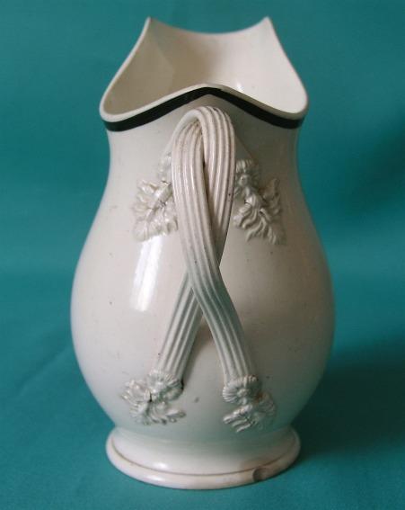 An 18th Century Leeds Creamware Jug Made For The Dutch