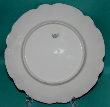 A Limoges Porcelain Cabinet Plate C 1890 Signed E Forland