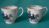 Two Liverpool (Pennington's) porcelain coffee cups c.1780